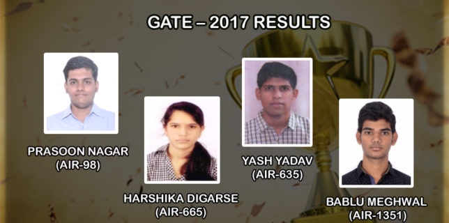 GATE – 2017 Results