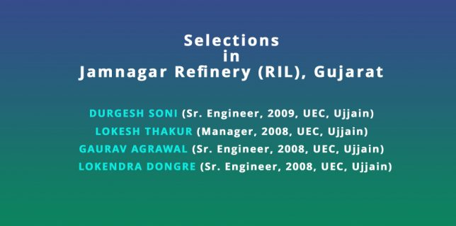 Selections in other Govt./Pvt. Refineries