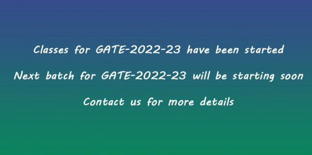 GATE – 2022 New Batch